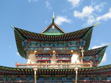 Temple In Buddhist University Monastery Royalty Free Stock Photography