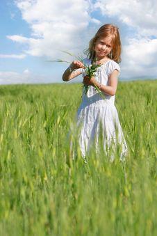 Free Girl In Wheat Field Portrait Stock Photo - 9545710