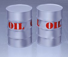 Free Oil Barrel 3d Stock Photography - 9546132