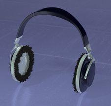 Headphones 3d Stock Image