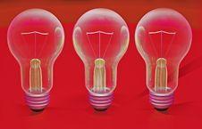 Light Bulbs 3d Royalty Free Stock Photography