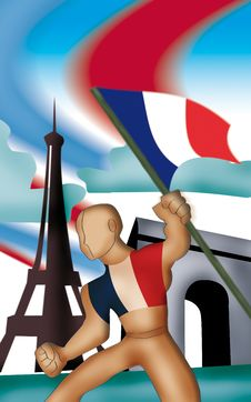 Free France Symbol Royalty Free Stock Photography - 9546397