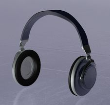 Headphones 3d Royalty Free Stock Photo