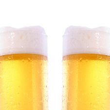 Free Two Beer Glasses Royalty Free Stock Photography - 9546677