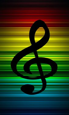 Free Treble Clef Background Royalty Free Stock Photos - 9546678