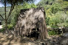 Polynesian Hut In Honolulu Royalty Free Stock Photo