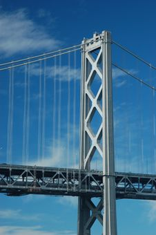 Bay Bridge Detail Stock Photo