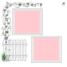 Free Garden Scrapbook Frame Stock Image - 9549431