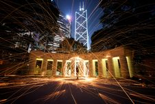 Free White Concrete Pillar Lighted During Night Time Stock Image - 95409421
