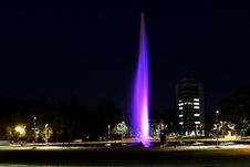 Free Illuminated Fountain In City Night Scene Royalty Free Stock Photography - 95409477