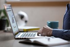 Free Person Working On Laptop Royalty Free Stock Image - 95409526