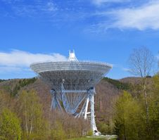 Free Observatory With Dish In Woodland Setting Royalty Free Stock Image - 95476946