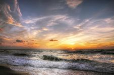 Free Sunset At Sea Royalty Free Stock Photo - 95476985