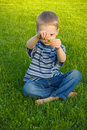 Free Boy With Dandelion Stock Images - 9558344