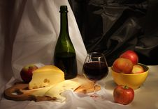 Free Wine And Fruits Stock Photo - 9550640