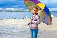 Free GIRL WITH UMBRELLA Stock Photography - 9552192