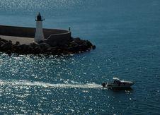 Free Boat Sailing (Cagliari) Royalty Free Stock Image - 9552526