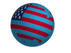 Free Usa Globo Royalty Free Stock Photography - 9552807