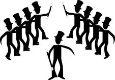 Free Broadway Male Line Dancers... Royalty Free Stock Images - 9552959