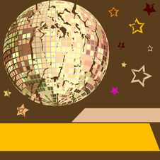 Free Vector Abstract Illustration For Disco Royalty Free Stock Photography - 9553007