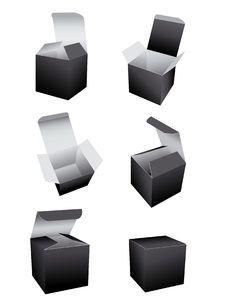 Free Vector Black Boxes Template Stock Photos - 9553133
