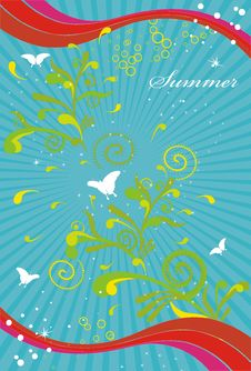 Free Summer Background Royalty Free Stock Images - 9554089