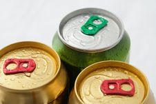 Three Beers Stock Photo