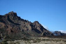 Free Volcanic Landscape On Teide Royalty Free Stock Photos - 9555348