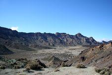 Free Volcanic Landscape On Teide Royalty Free Stock Photo - 9555375