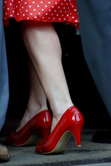 Free Red Shoes Royalty Free Stock Photo - 9555385