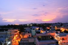 Free Residential Colony At Evening Stock Photography - 9555862