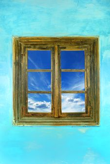 Free Window With A Sky View Royalty Free Stock Photos - 9556288