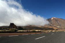 Free Road In Tenerife Teide Park Royalty Free Stock Photography - 9556577