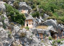 Free Lycian Tombs Stock Photo - 9557400