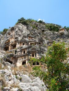 Free Lycian Tombs Stock Photography - 9557612