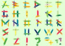 Free The English Alphabet, Color Abstraction Royalty Free Stock Photos - 9557618