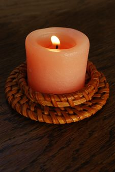 Free Candle On Wood Royalty Free Stock Photos - 9558008