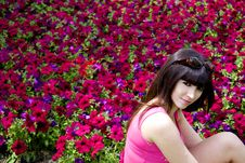 Free Woman And Flowers Stock Image - 9559091