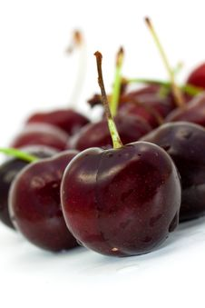 Free Ripe, Juicy Cherries,isolated On White Background Stock Images - 9559124
