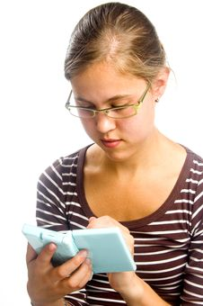 Free Actractive Female Is Playing A Videogame Stock Photo - 9559180