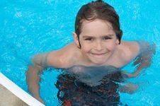 Free Pool Smile Royalty Free Stock Image - 9559336