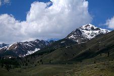 Boulder Mountains Royalty Free Stock Photos