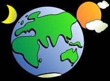 Free Green, Yellow, Planet, Cartoon Royalty Free Stock Image - 95506936