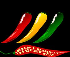Free Tabasco Pepper, Chili Pepper, Bell Peppers And Chili Peppers, Cayenne Pepper Stock Image - 95522061