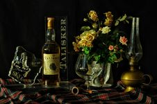 Free Vintage Display Of Scottish Whisky  Stock Photography - 95536792