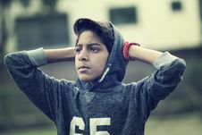 Free Boy With Hoodie Royalty Free Stock Photography - 95536807