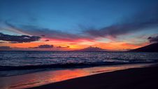 Free Sunset Over Beach Royalty Free Stock Image - 95536826