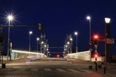 Free Urban Road Bridge At Night Stock Photography - 95593432