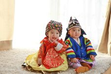 Free Baby Hanbok Korea Stock Photo - 95593610
