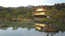 Free Kinakaku-Ji On Lake, Kyoto, Japan Stock Image - 95593611